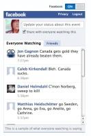 olympics facebook status feed