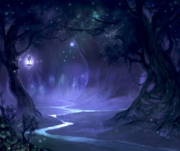 """night forest"" via deviantart / valeofox"