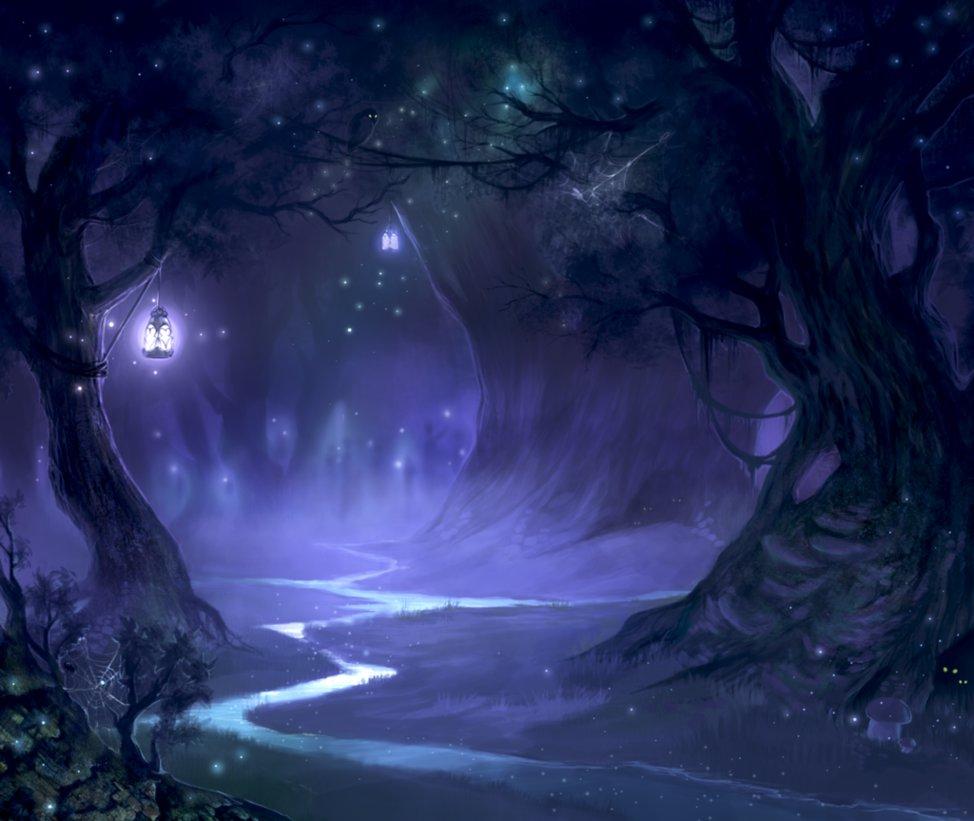 """""""night forest"""" via deviantart / valeofox"""